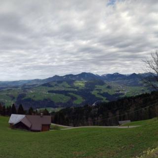 Blick vom Brüggelekopf Richtung Bregenzer Wald