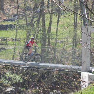 Hängebrücke für Biker