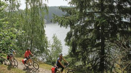 E-Biketour auf dem Saaleradweg