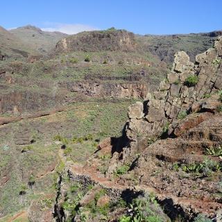 Großartiger Felsenweg