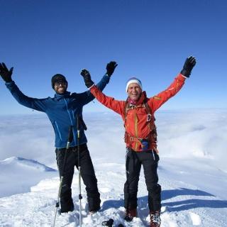 auf dem Gipfelpilz des Snaefellsjökull