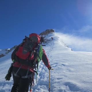 Gipfelgrat zum Hauptgipfel