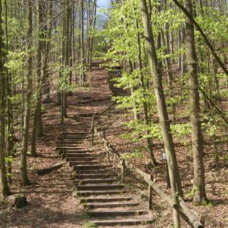 Himmelsleite - Eine der beiden Treppen auf der Tour