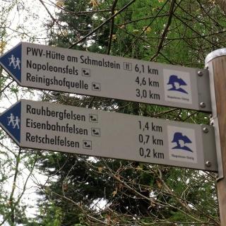 ... und los gehts auf dem Napoleon-Steig