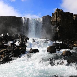 Wasserfall Oxararfoss im Thingvellir