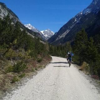 mit dem Mountainbike ins Karwendeltal