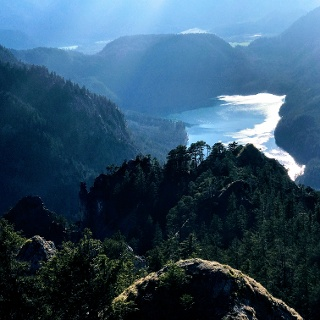 Der zauberhafte Blick zum Alpsee…