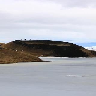 schon beim Vorbeifahren ist der Rofugerdishol Krater zu sehen