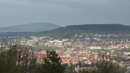 Berg Dollmar im Hintergrund von Meiningen