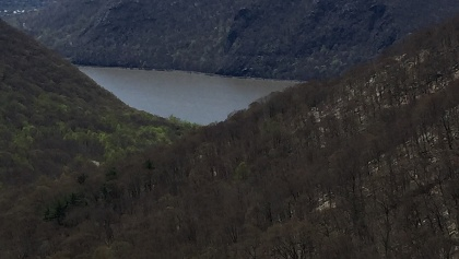 Hudson river from trail summit