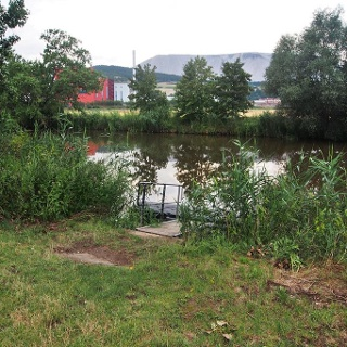 Werra-Bootsanlegestelle am Sportplatz Heringen