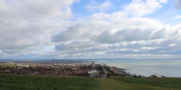 Blick zurück nach Eastbourne.