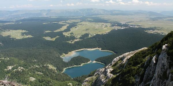 Kleiner und großer Schwarzer See von oben gesehen