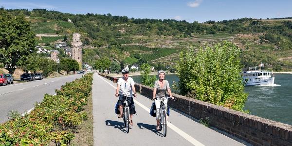 Rheinradweg bei Oberwesel