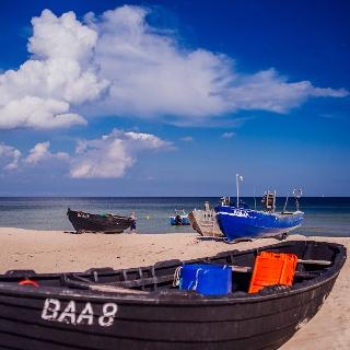 Am Fischerstrand in Baabe wird noch jeden Tag frischer Fisch angelandet