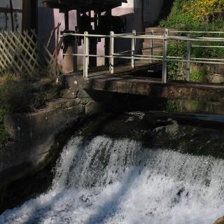 Mühlenwehr in Mühlhausen