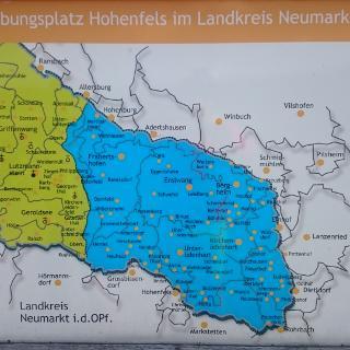 Karte des Truppenübungsplatzes, am Weg nach Kirchenwinn