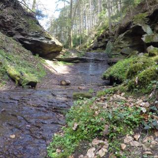 !. Wasserfall in der Xanderklinge