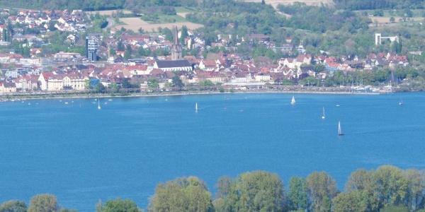 Blick vom Schienerberg über den Untersee auf Radolfzell