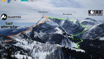 Kleine Reibe über Variante Reinersbergbrückerl - Übersichtsfoto - Topo