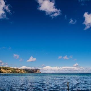 Blick auf Kap Arkona von Vitt aus