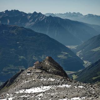 Die Schwarzensteinhütte im August 2016