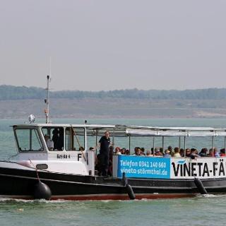 MS Krysta auf dem Störmthaler See