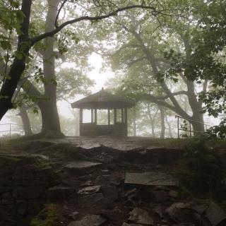 Ritterplatte im Nebel...