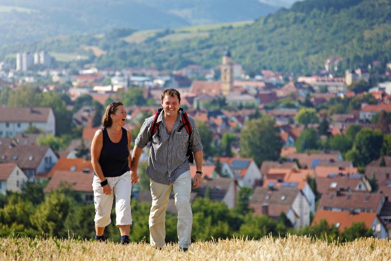 Wanderer über Bad Mergentheim
