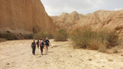 Nach dem Abstieg vom Kibbutz Almog