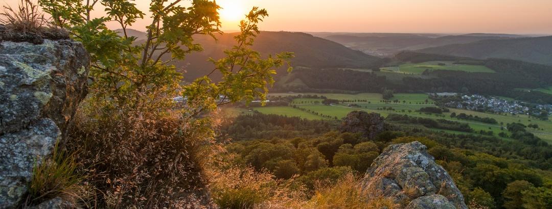 Blick von den Bruchhauser Steinen auf das Sauerland