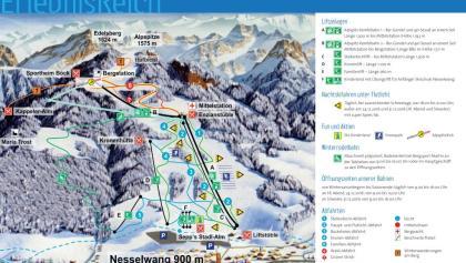 Pistenplan Skigebiet Alpspitze Nesselwang