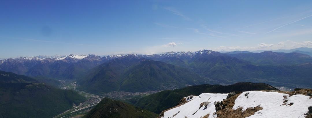 Ausblick über Bellinzona