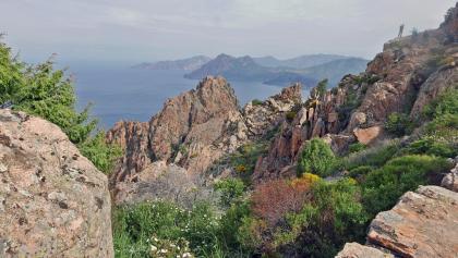 Die Felsenwelt der Les Calanche