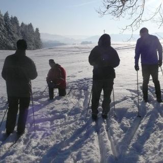 Skiwandern in Beuren bei Isny