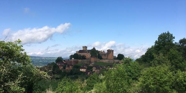 "Castelnau Chateau from ""the high road""."