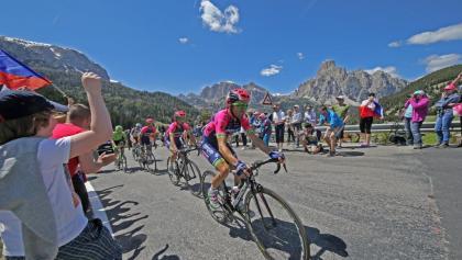 Am Campolongo-Pass beim Giro d'Italia