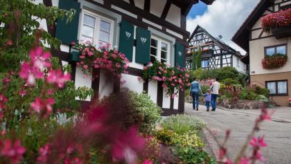 Fachwerkhäuser prägen das Ortsbild von Sasbachwalden.