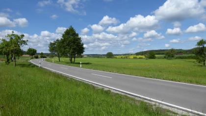 Schöne Aussicht zwischen Lehningen und Neuhausen