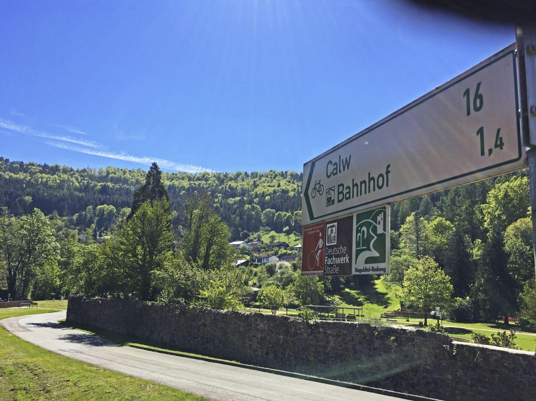 Radwegeschild Nagoldtalradweg