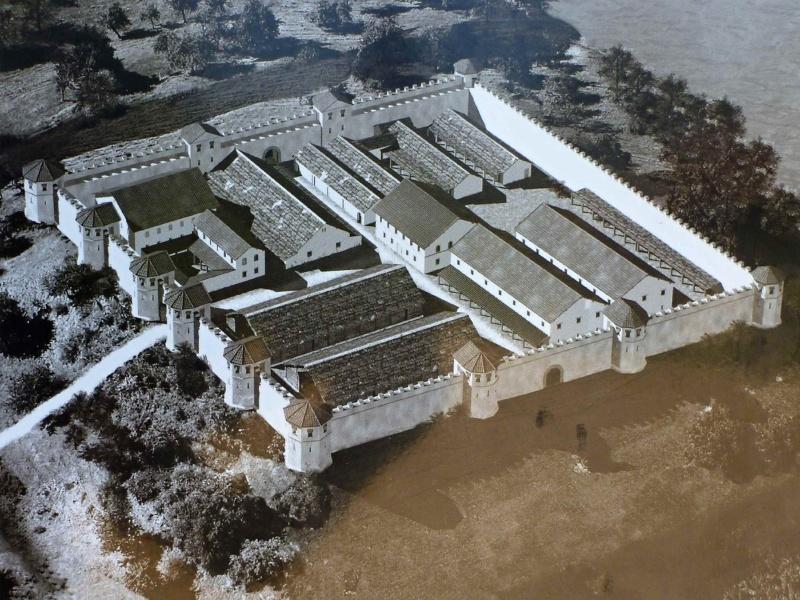 Rekonstruktion des Kastells von Stein am Rhein