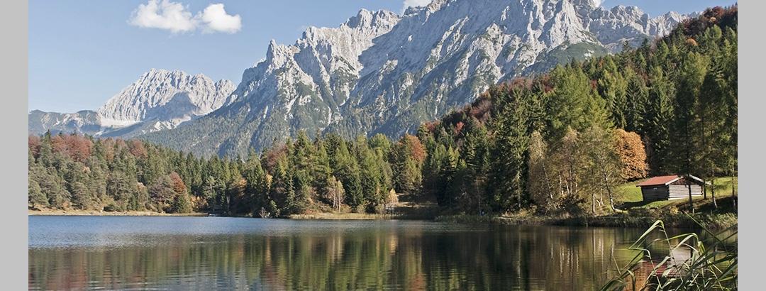 Der Lautersee bei Mittenwald