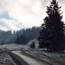 Weg zur Falkenhütte unterm Falkengipfel