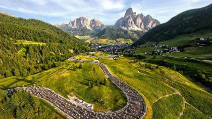 Corvara beim Maratona dles Dolomites