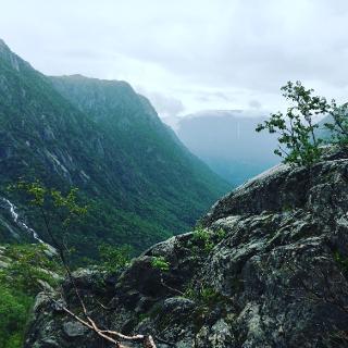 Aussicht ins Tal vom Buarbreen