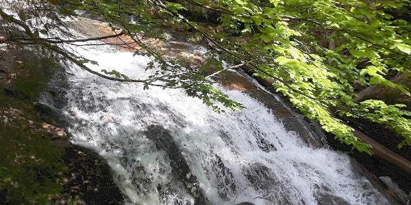 Mittelteil der Wasserfälle