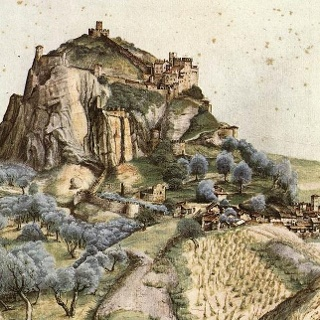 The Castle of Arco in the work Albrecht Dürers (1495)