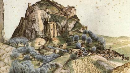 Veduta del Castello di Arco, Albrecht Dürer 1495 (Public Domain)
