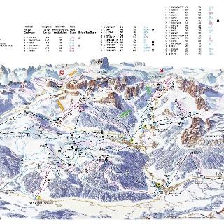 Pistenplan Alta Badia 2017