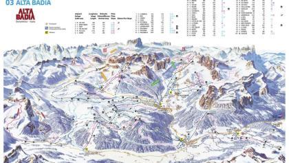 Cartina sciistica di Alta Badia 2017